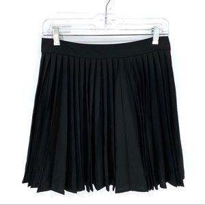 Alice + Olivia Skirts - Alice + Olivia Black Pleated Wool Skirt
